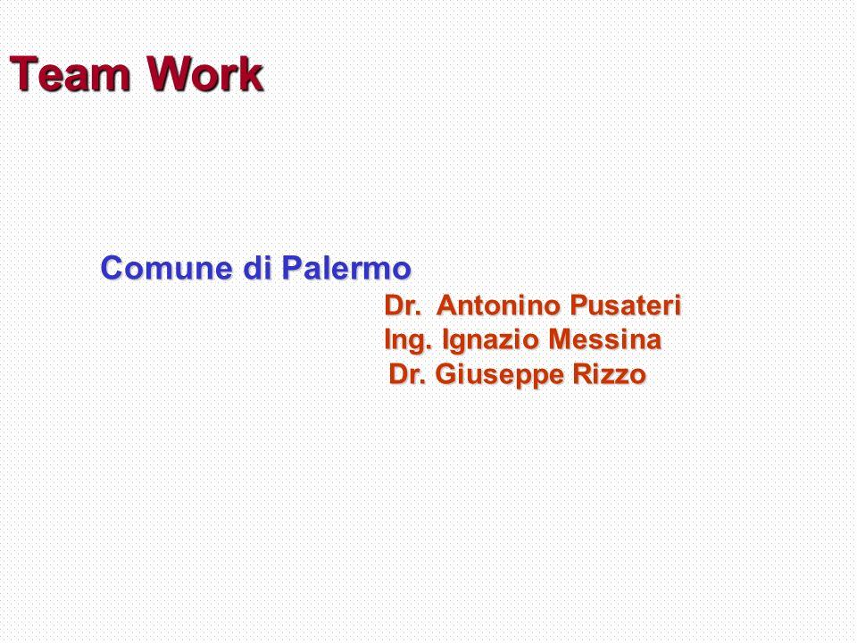 Team Work Comune di Palermo Dr. Antonino Pusateri Ing. Ignazio Messina