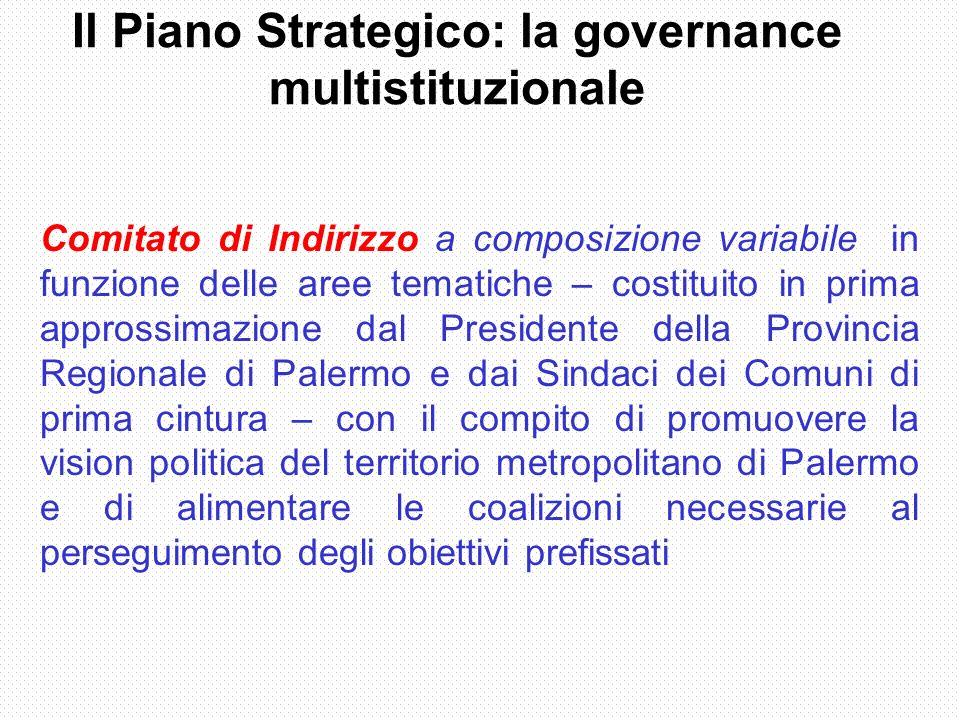 Il Piano Strategico: la governance multistituzionale