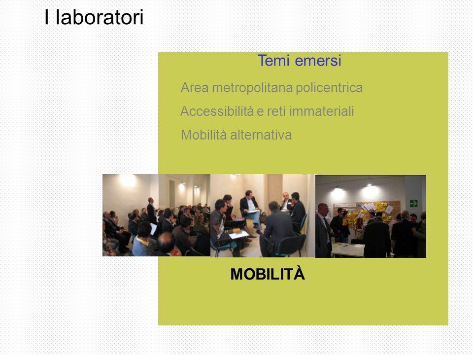 I laboratori Temi emersi MOBILITÀ Accessibilità e reti immateriali