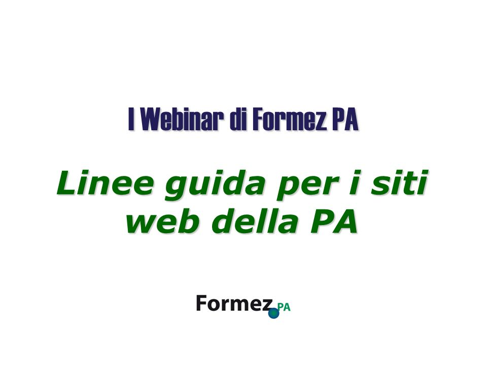 Linee guida per i siti web della PA