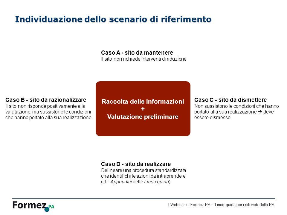 Individuazione dello scenario di riferimento