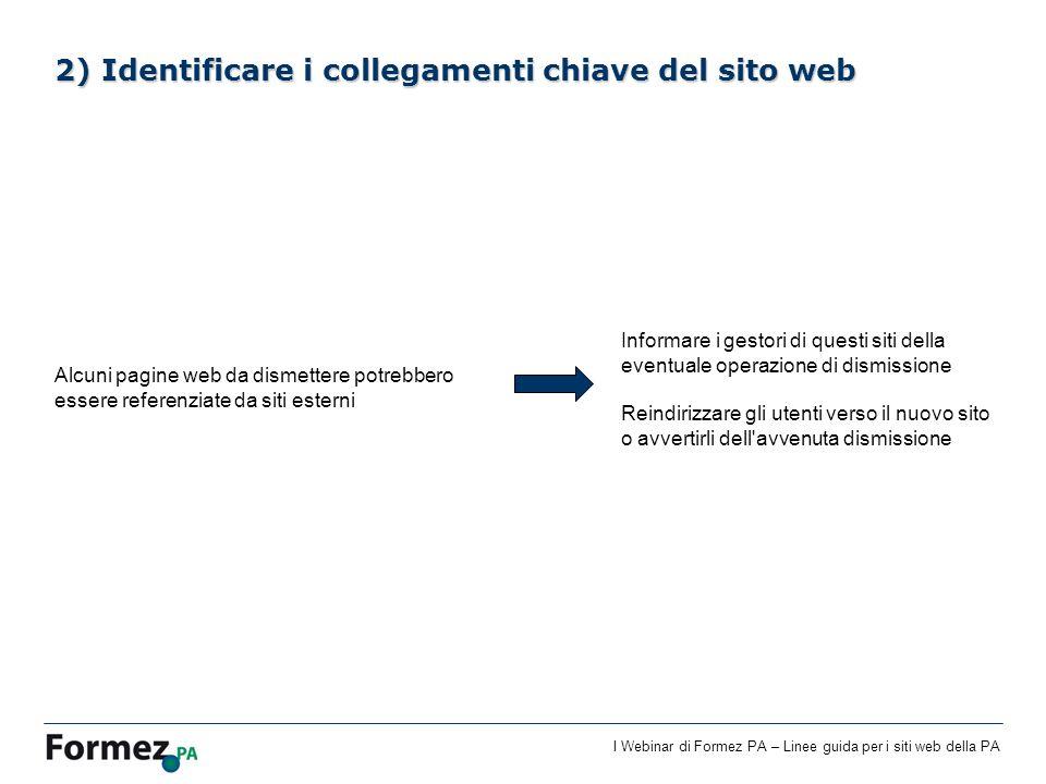 2) Identificare i collegamenti chiave del sito web