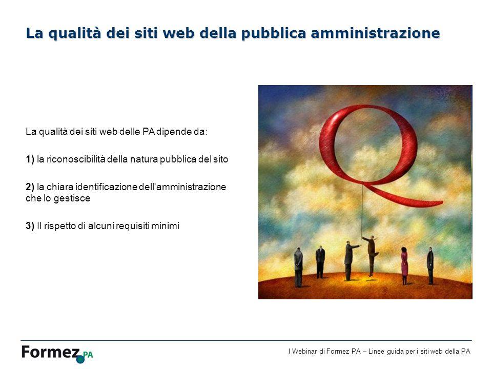 La qualità dei siti web della pubblica amministrazione