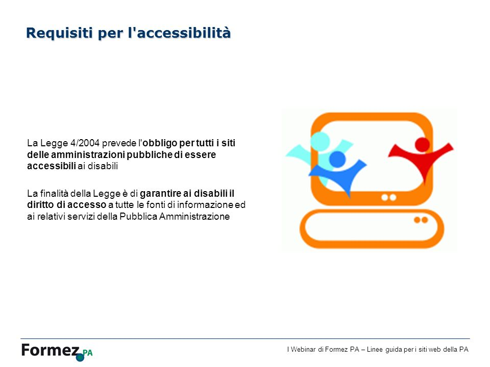 Requisiti per l accessibilità