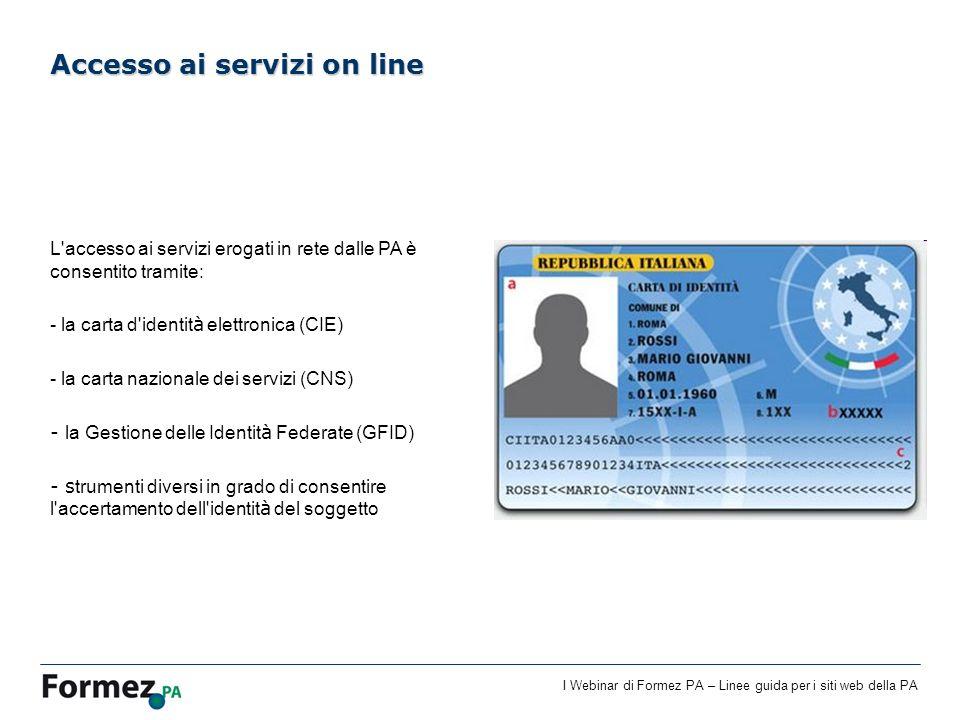 Accesso ai servizi on line
