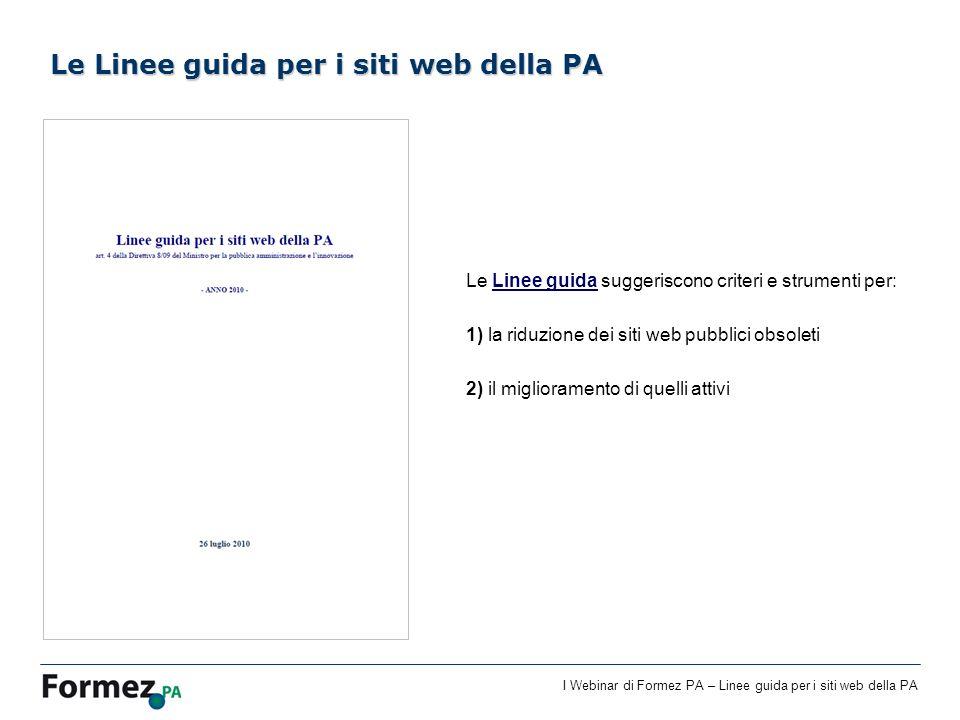 Le Linee guida per i siti web della PA