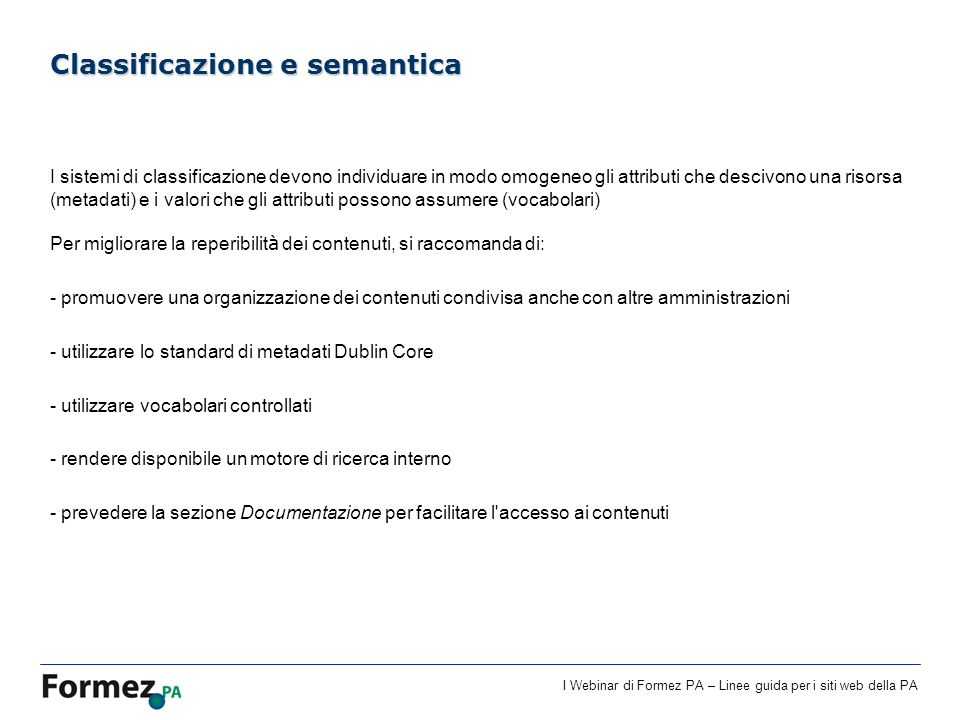 Classificazione e semantica