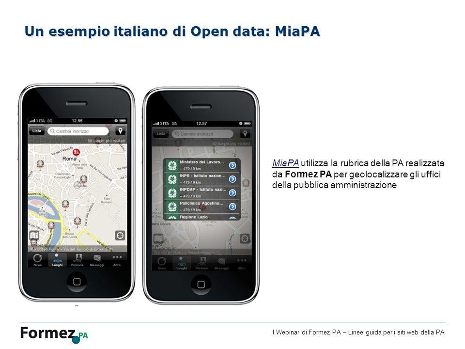Un esempio italiano di Open data: MiaPA