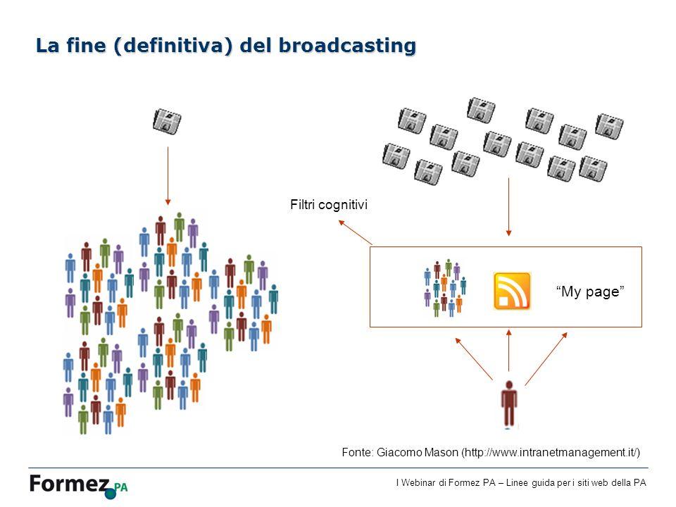 La fine (definitiva) del broadcasting