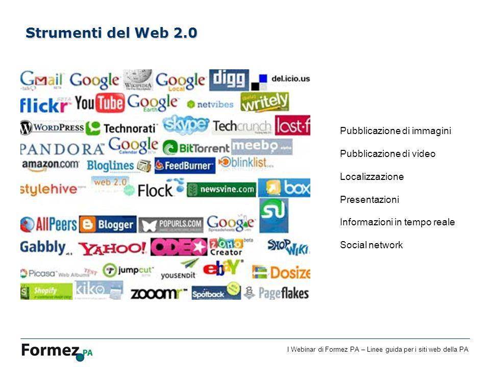 Strumenti del Web 2.0 Pubblicazione di immagini Pubblicazione di video