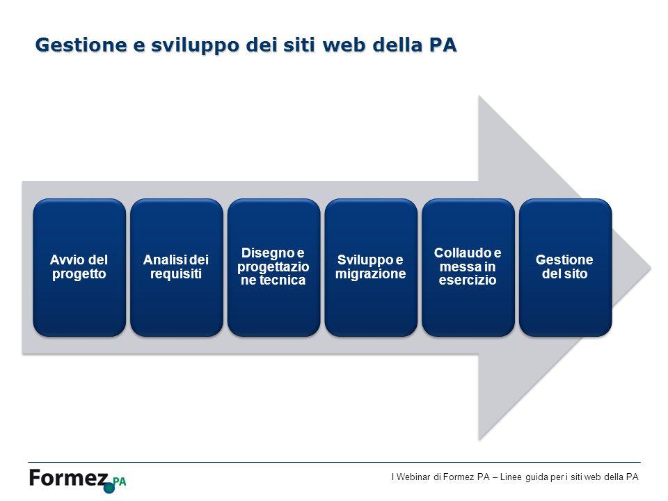 Gestione e sviluppo dei siti web della PA