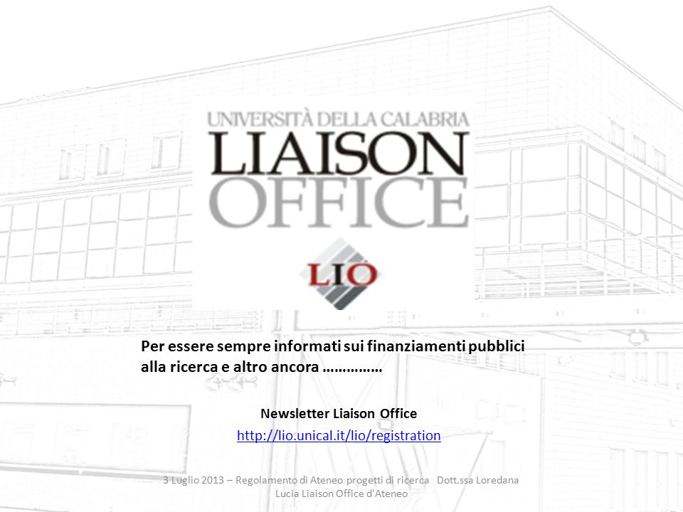 Newsletter Liaison Office