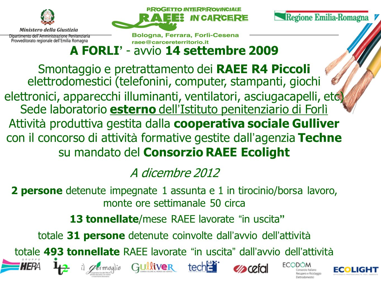 A FORLI' - avvio 14 settembre 2009