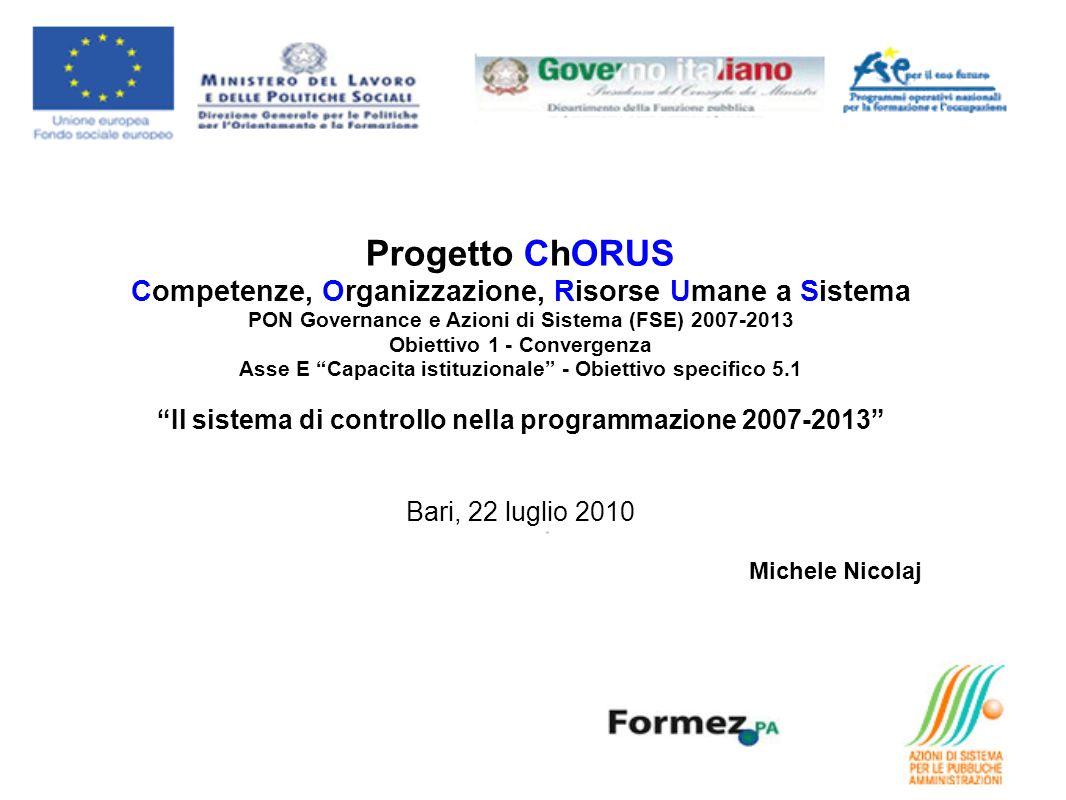 Progetto ChORUS Competenze, Organizzazione, Risorse Umane a Sistema