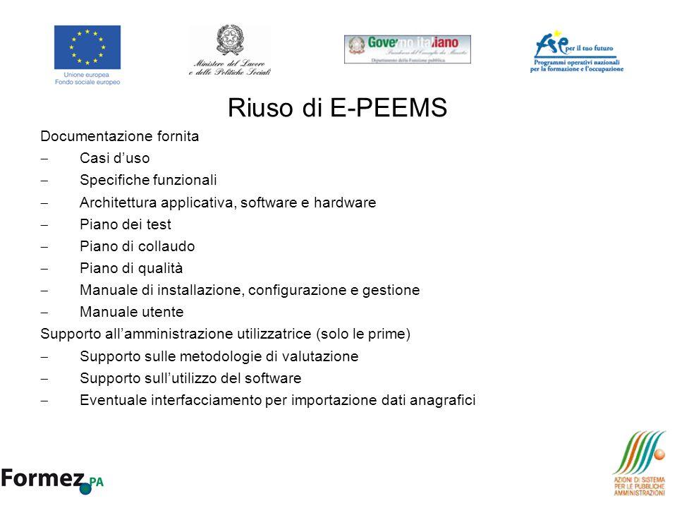 Riuso di E-PEEMS Documentazione fornita Casi d'uso