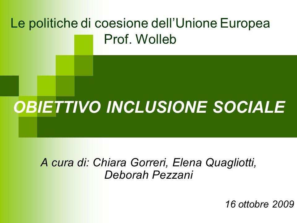 Le politiche di coesione dell'Unione Europea Prof. Wolleb