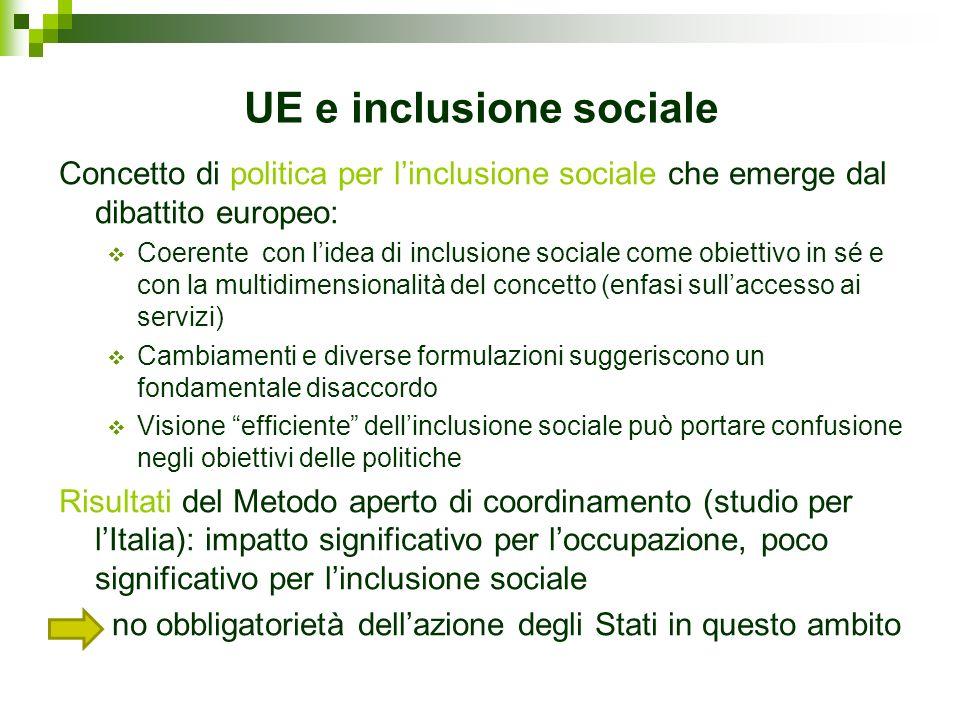 UE e inclusione sociale