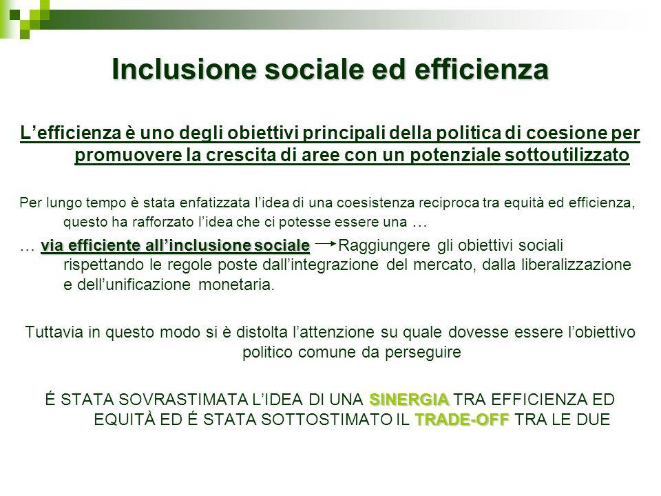 Inclusione sociale ed efficienza