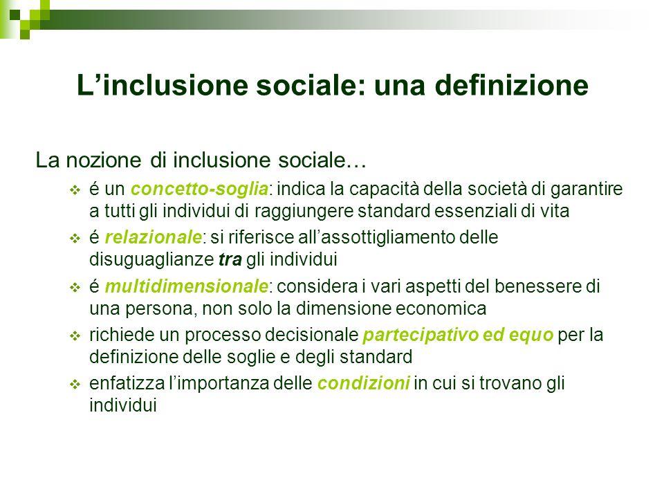 L'inclusione sociale: una definizione
