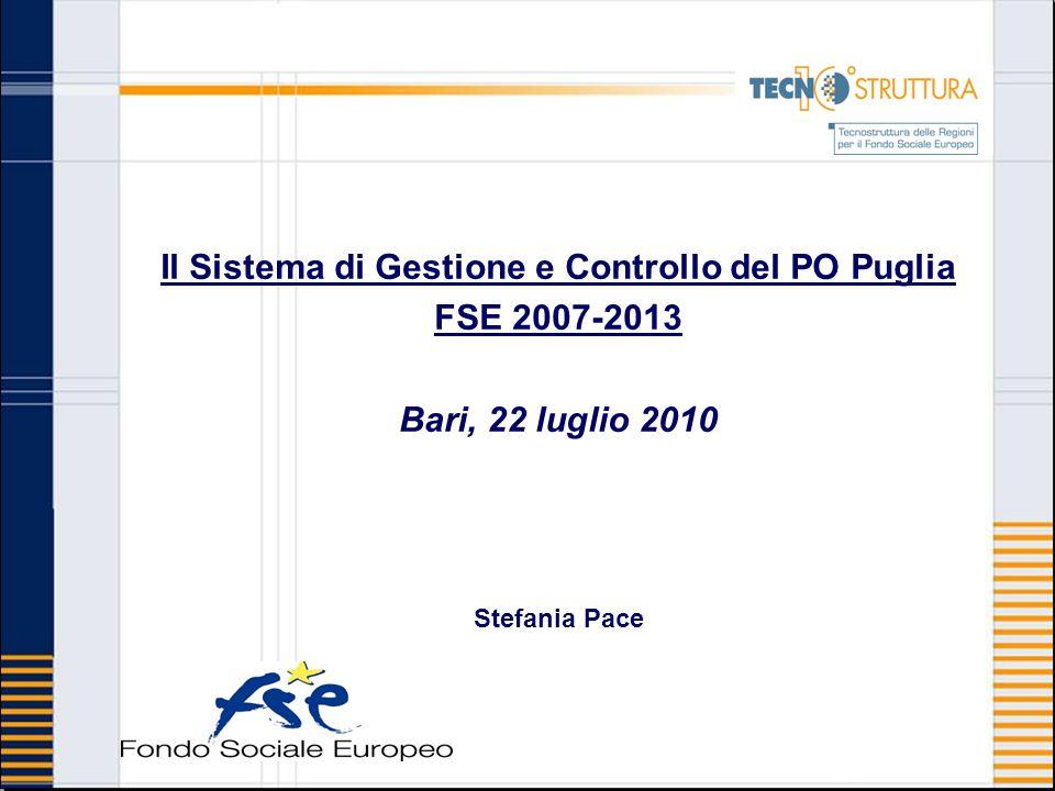 Il Sistema di Gestione e Controllo del PO Puglia
