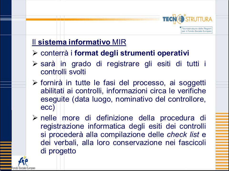 Il sistema informativo MIR