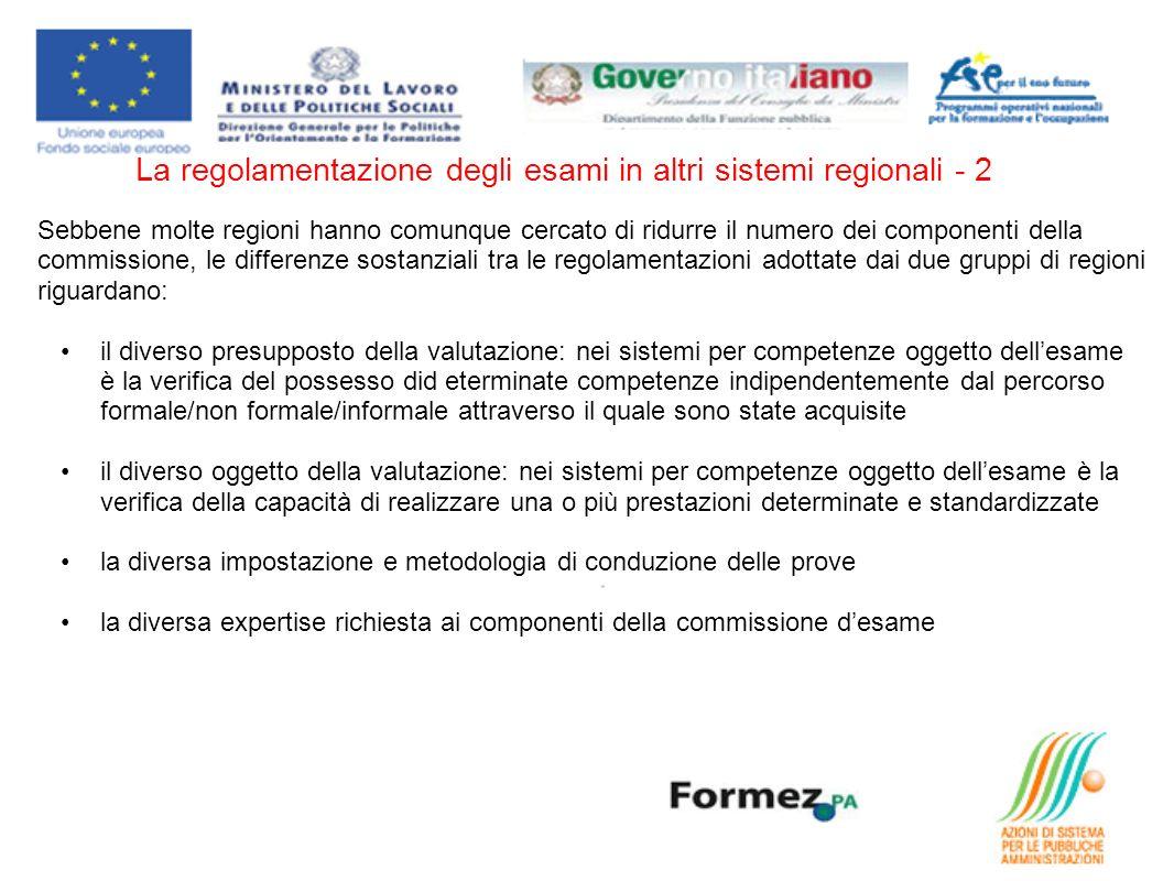La regolamentazione degli esami in altri sistemi regionali - 2