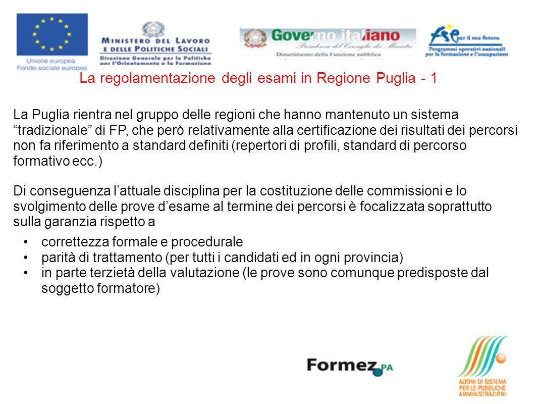 La regolamentazione degli esami in Regione Puglia - 1