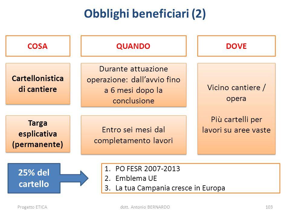 Obblighi beneficiari (2)