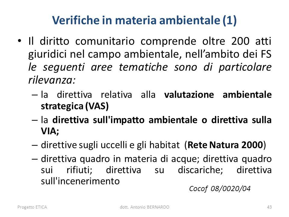 Verifiche in materia ambientale (1)