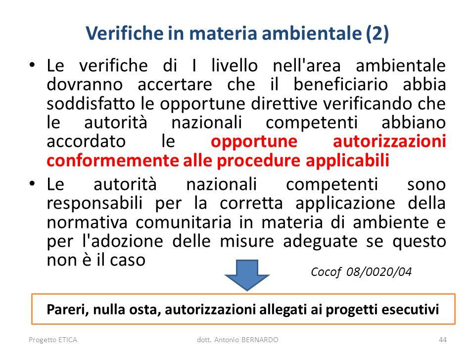 Verifiche in materia ambientale (2)