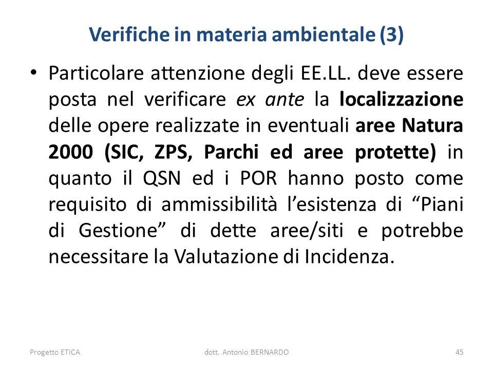 Verifiche in materia ambientale (3)