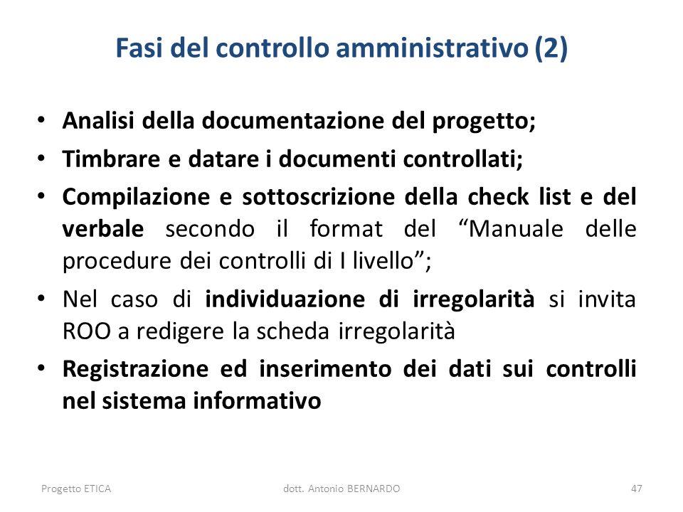 Fasi del controllo amministrativo (2)