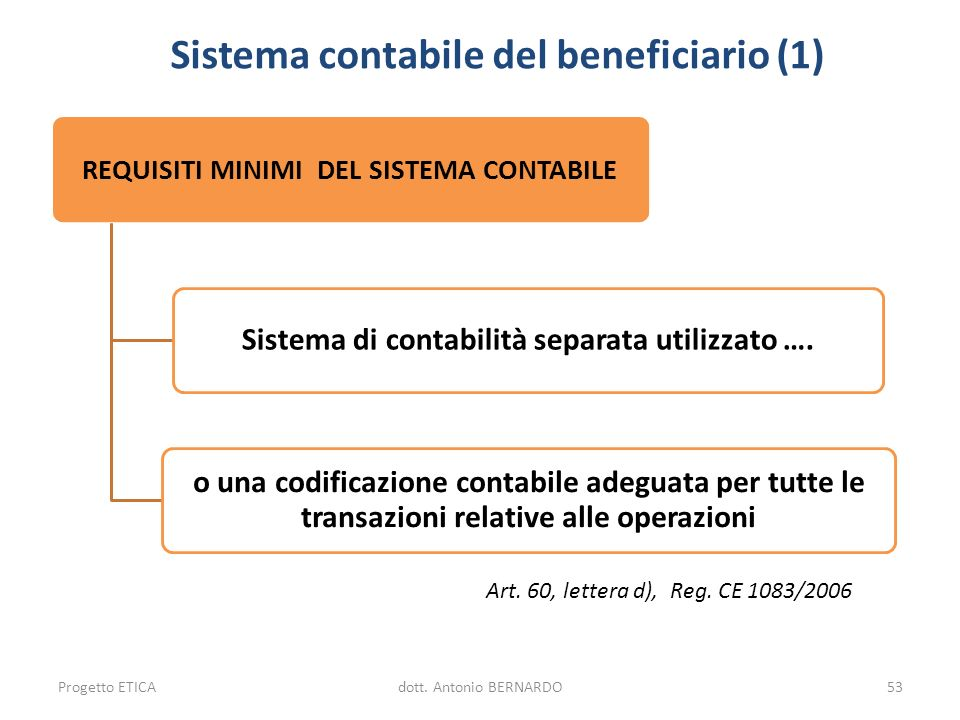 Sistema contabile del beneficiario (1)