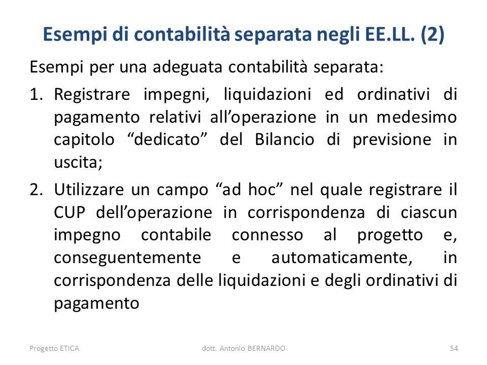 Esempi di contabilità separata negli EE.LL. (2)