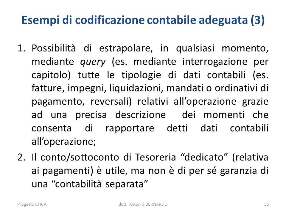 Esempi di codificazione contabile adeguata (3)