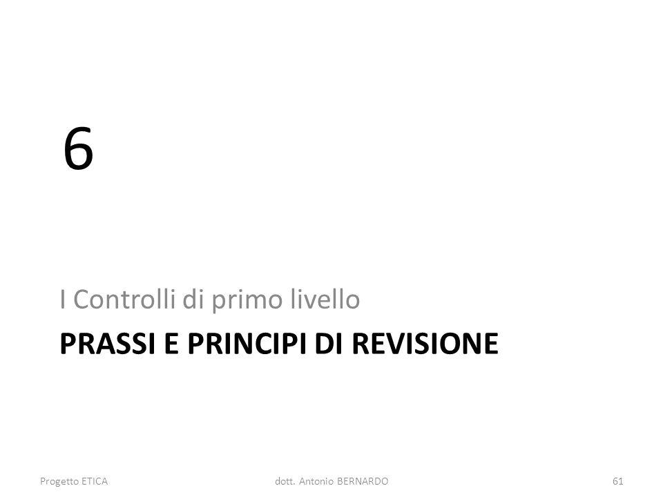 Prassi e principi di revisione