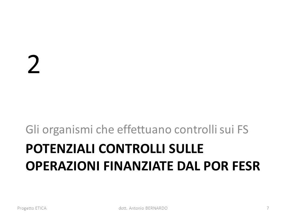 potenziali Controlli sulle operazioni finanziate dal por fesr