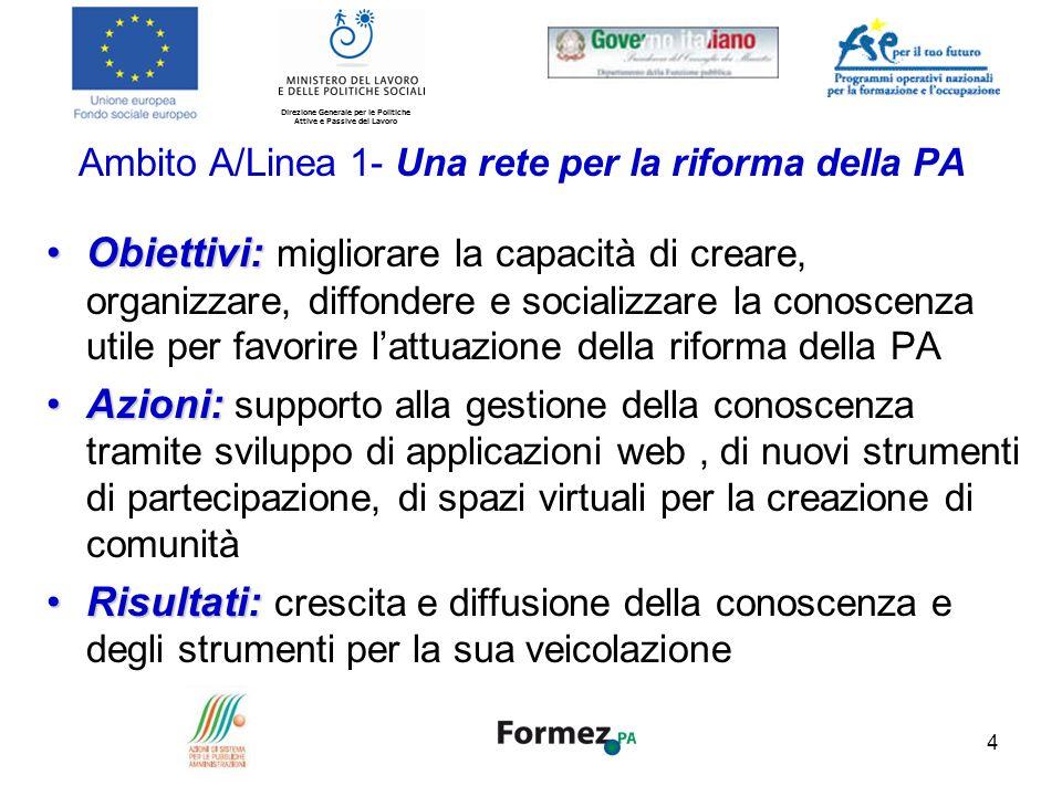 Ambito A/Linea 1- Una rete per la riforma della PA