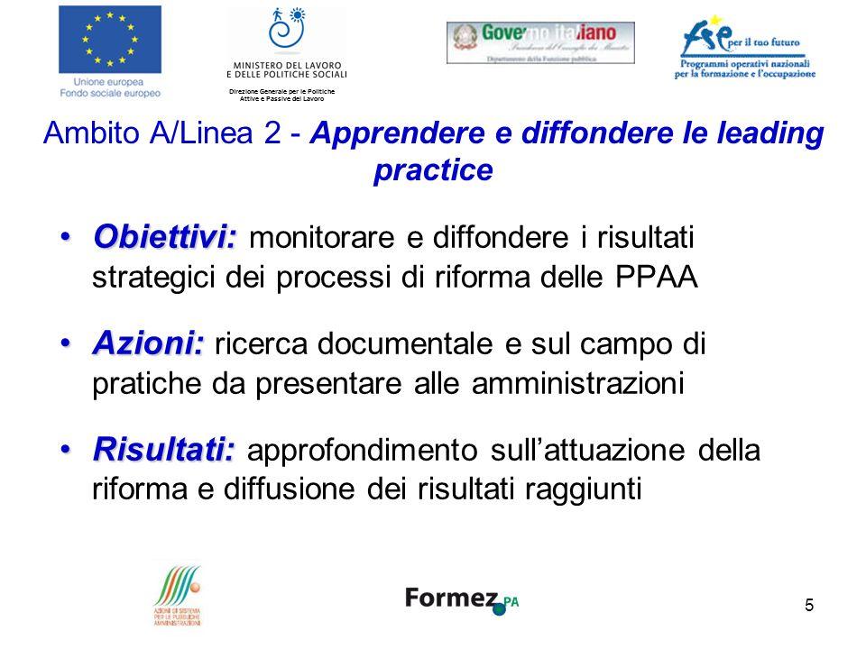 Ambito A/Linea 2 - Apprendere e diffondere le leading practice