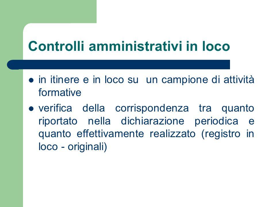 Controlli amministrativi in loco