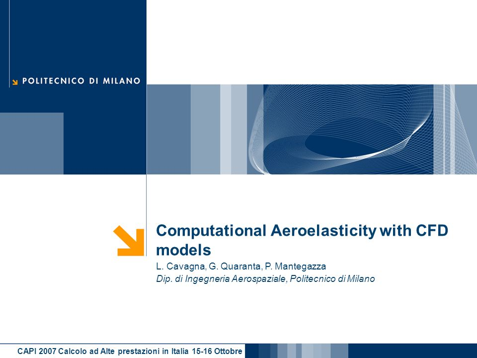 Computational Aeroelasticity with CFD models