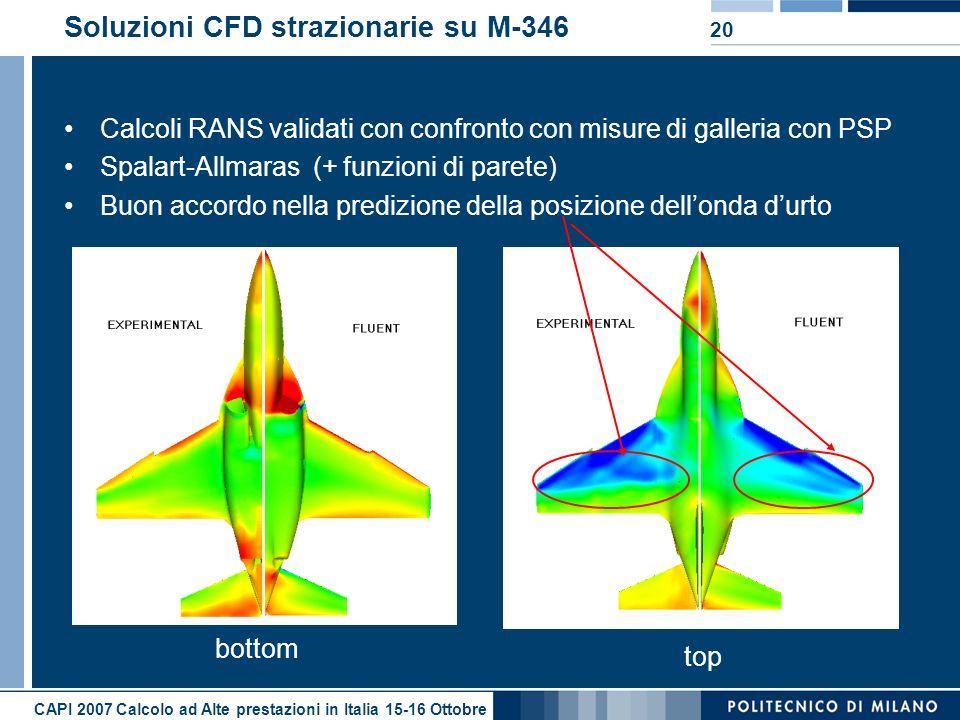 Soluzioni CFD strazionarie su M-346