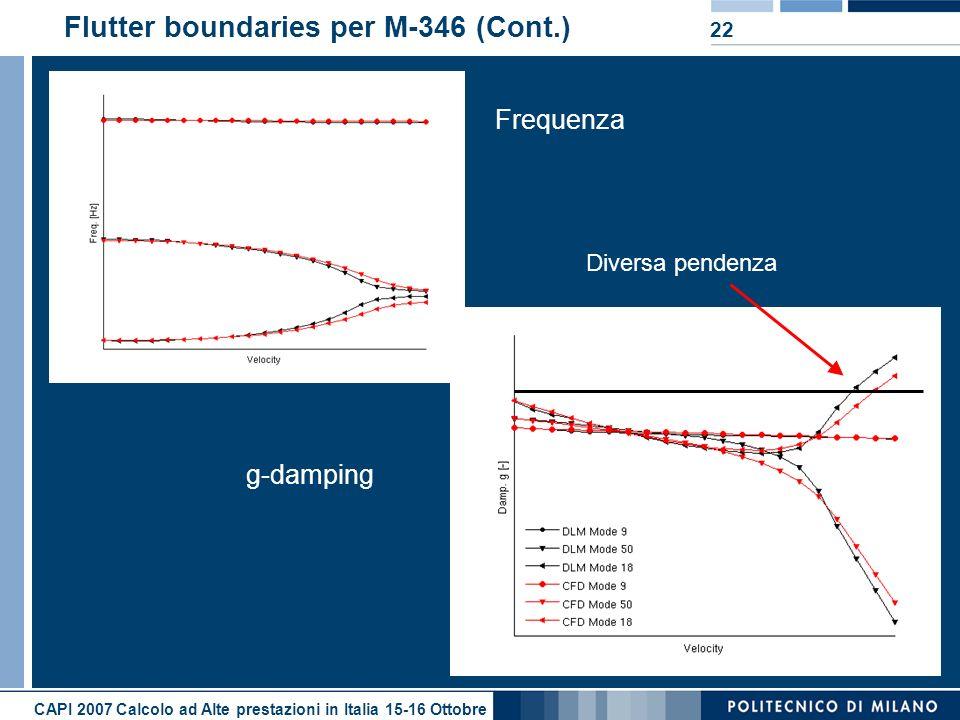 Flutter boundaries per M-346 (Cont.)