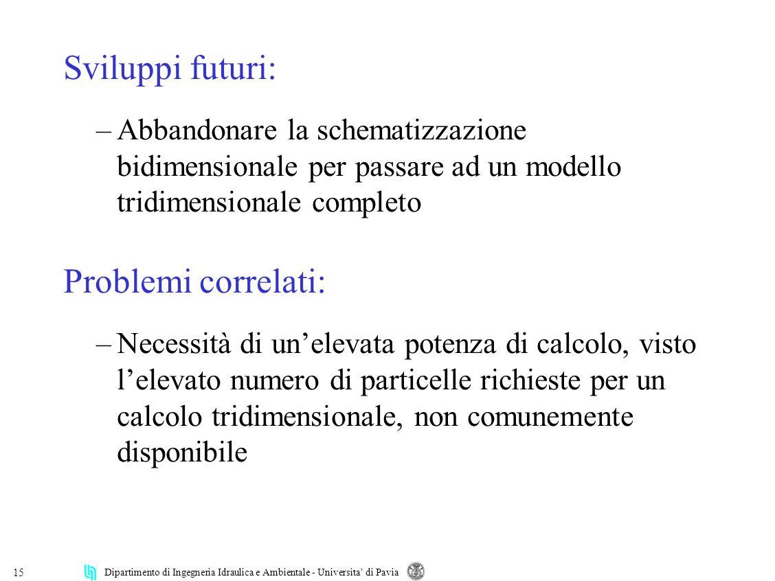 Sviluppi futuri: Problemi correlati: