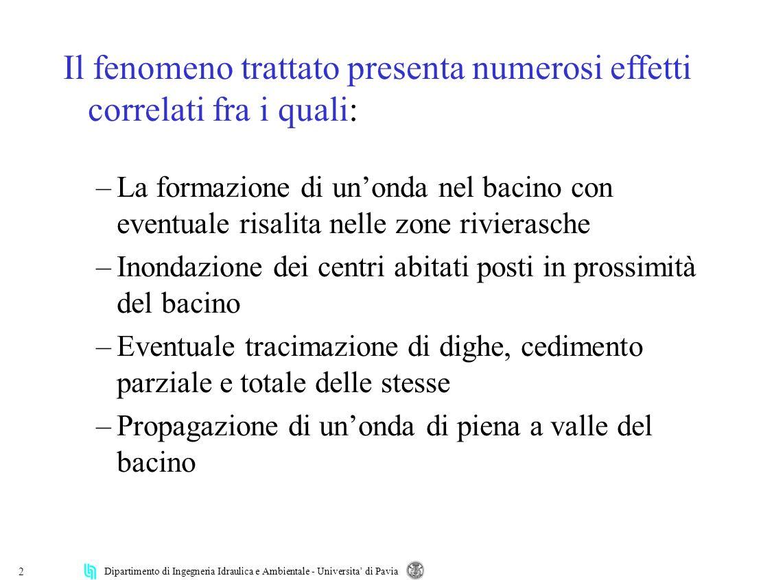 Il fenomeno trattato presenta numerosi effetti correlati fra i quali: