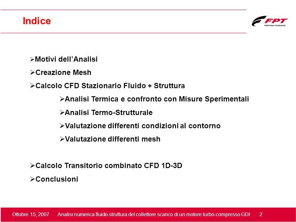 Indice Creazione Mesh Calcolo CFD Stazionario Fluido + Struttura