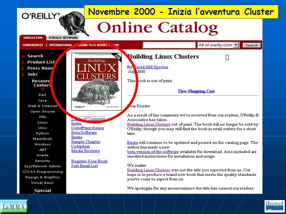 Novembre 2000 - Inizia l'avventura Cluster