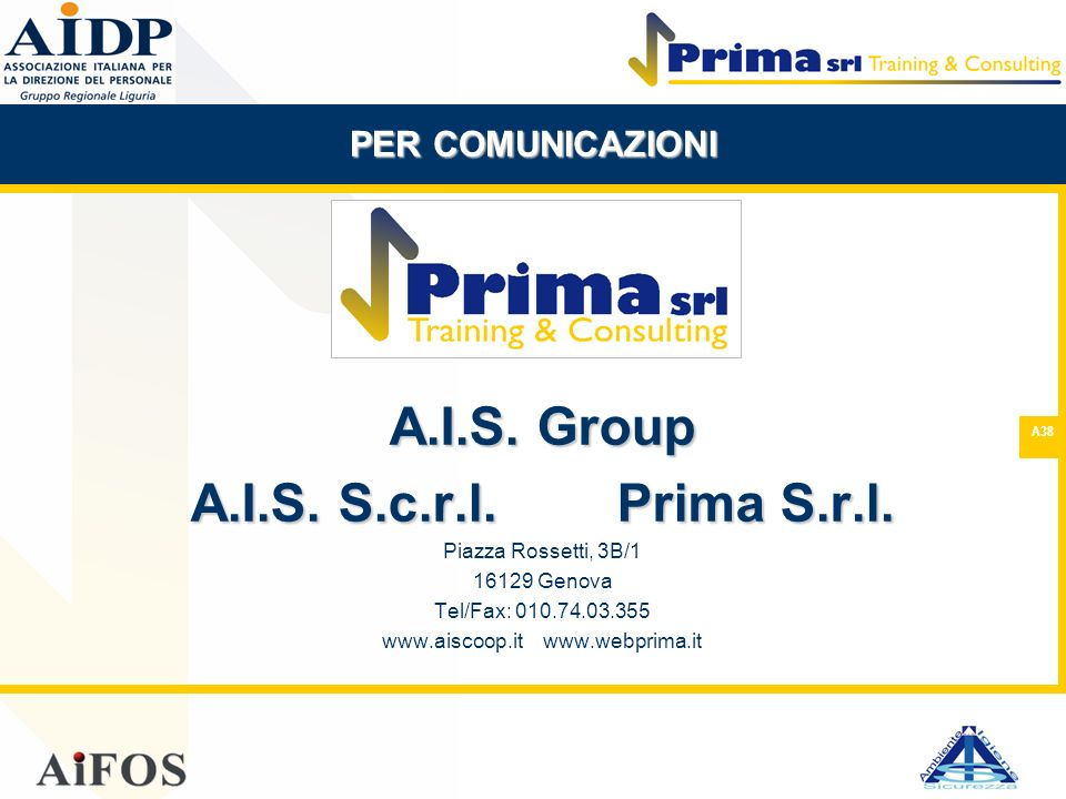 www.aiscoop.it www.webprima.it