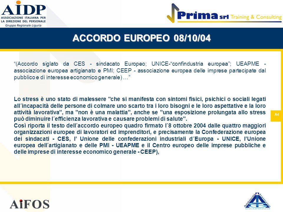 ACCORDO EUROPEO 08/10/04