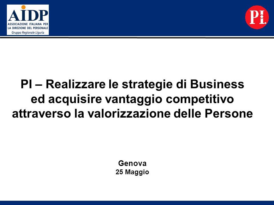 PI – Realizzare le strategie di Business ed acquisire vantaggio competitivo attraverso la valorizzazione delle Persone